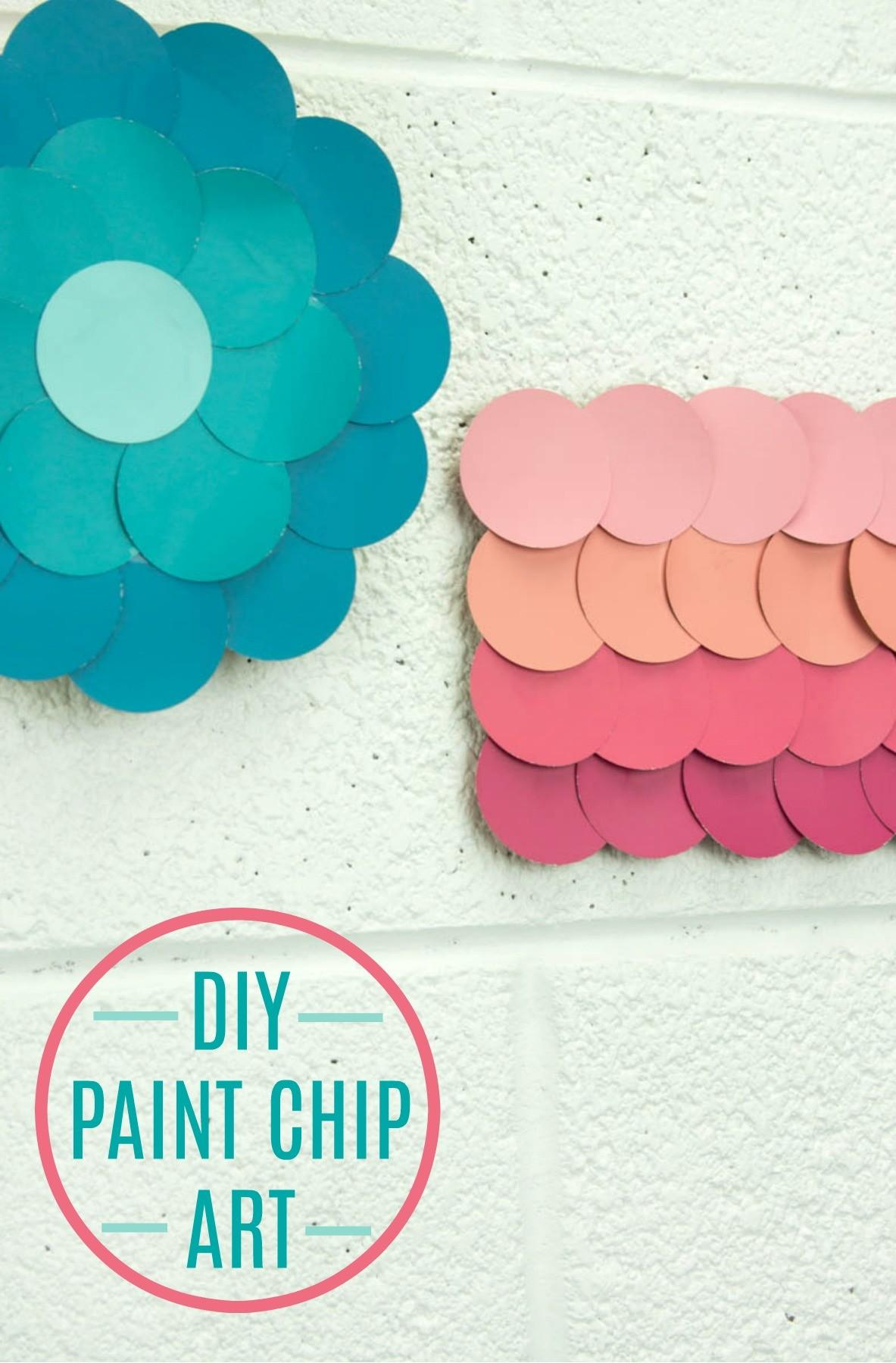 Diy Paint Chip Wall Art Little Craft Your Day