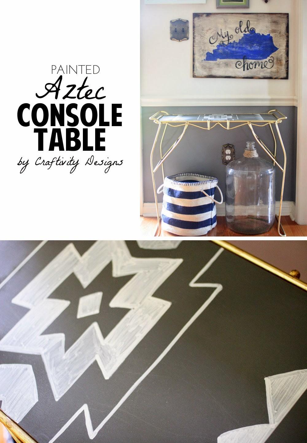 Diy Painted Aztec Console Table Craftivity Designs