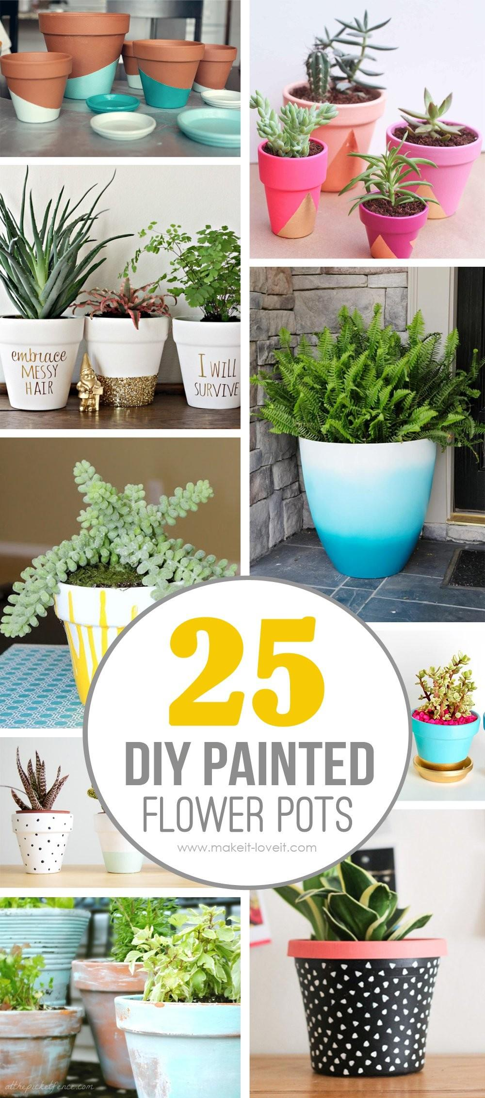 Diy Painted Flower Pot Ideas Love