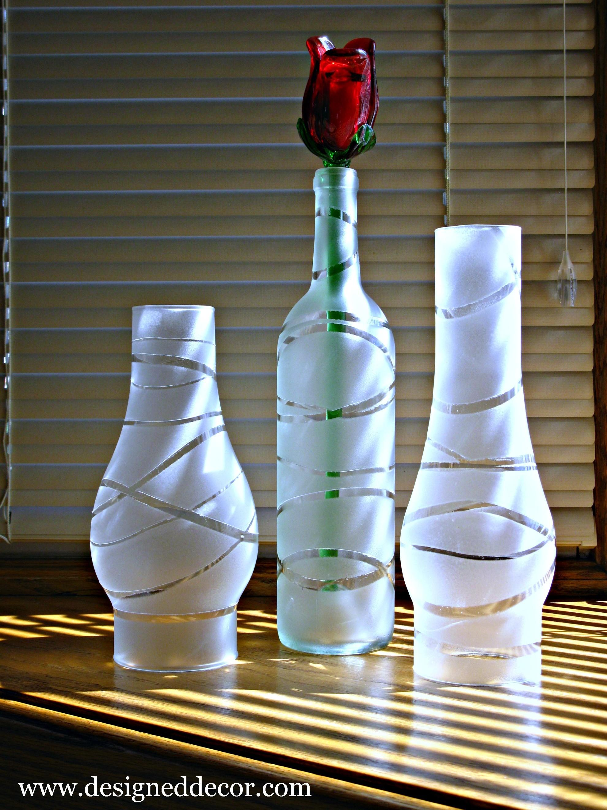 Diy Painted Jars Bottles Designed Decor