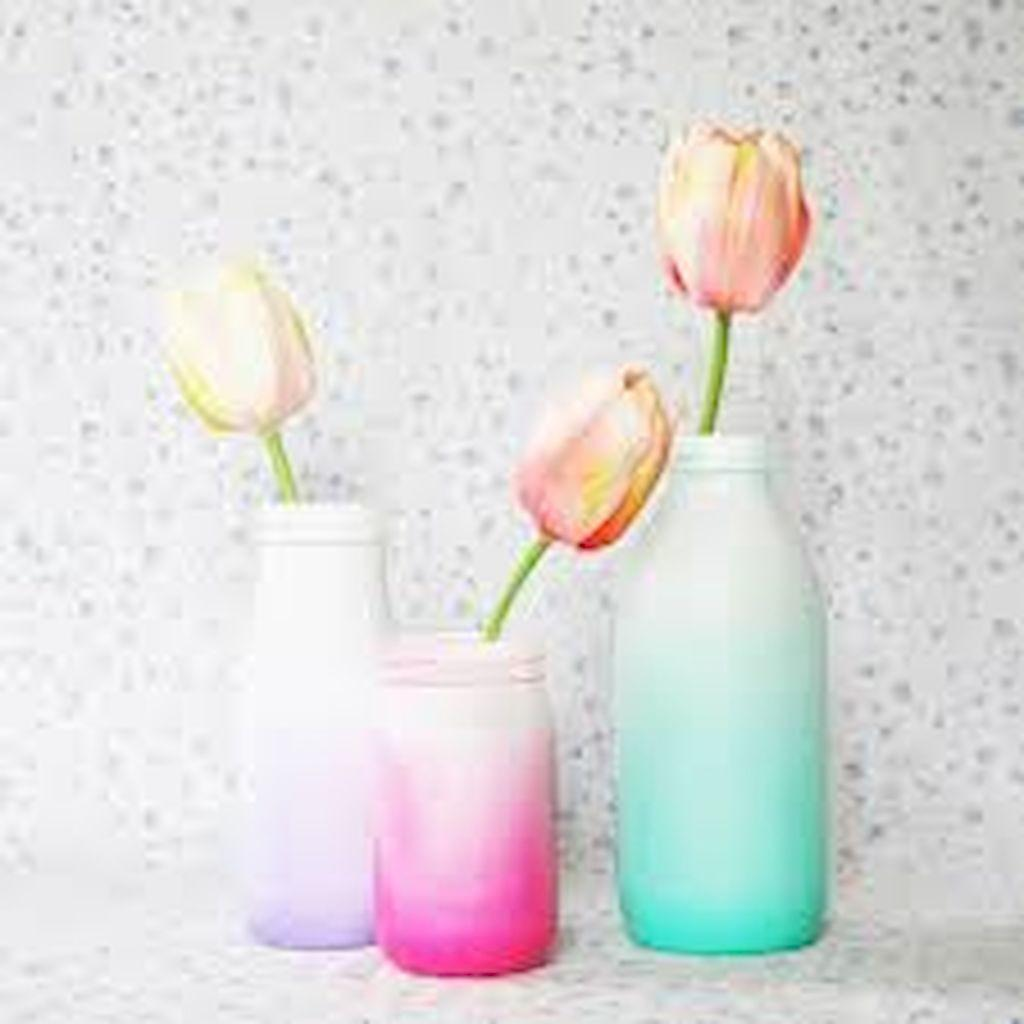 Diy Painted Ombre Vases Crafts Ideas Budget