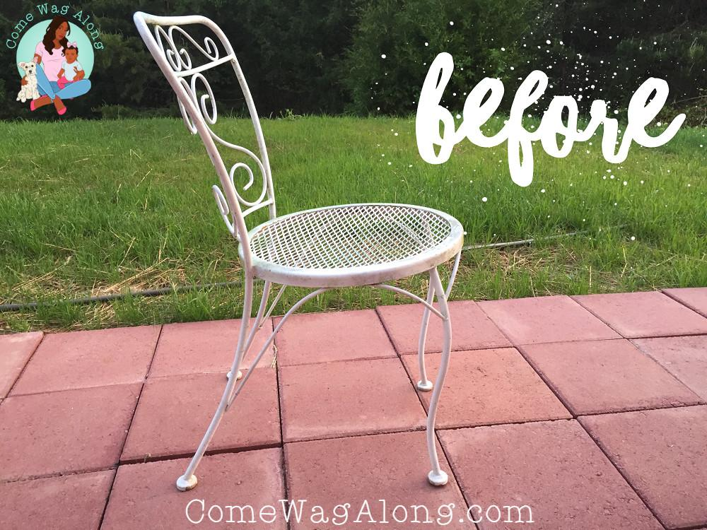 Diy Painted Outdoor Patio Furniture Come Wag Along