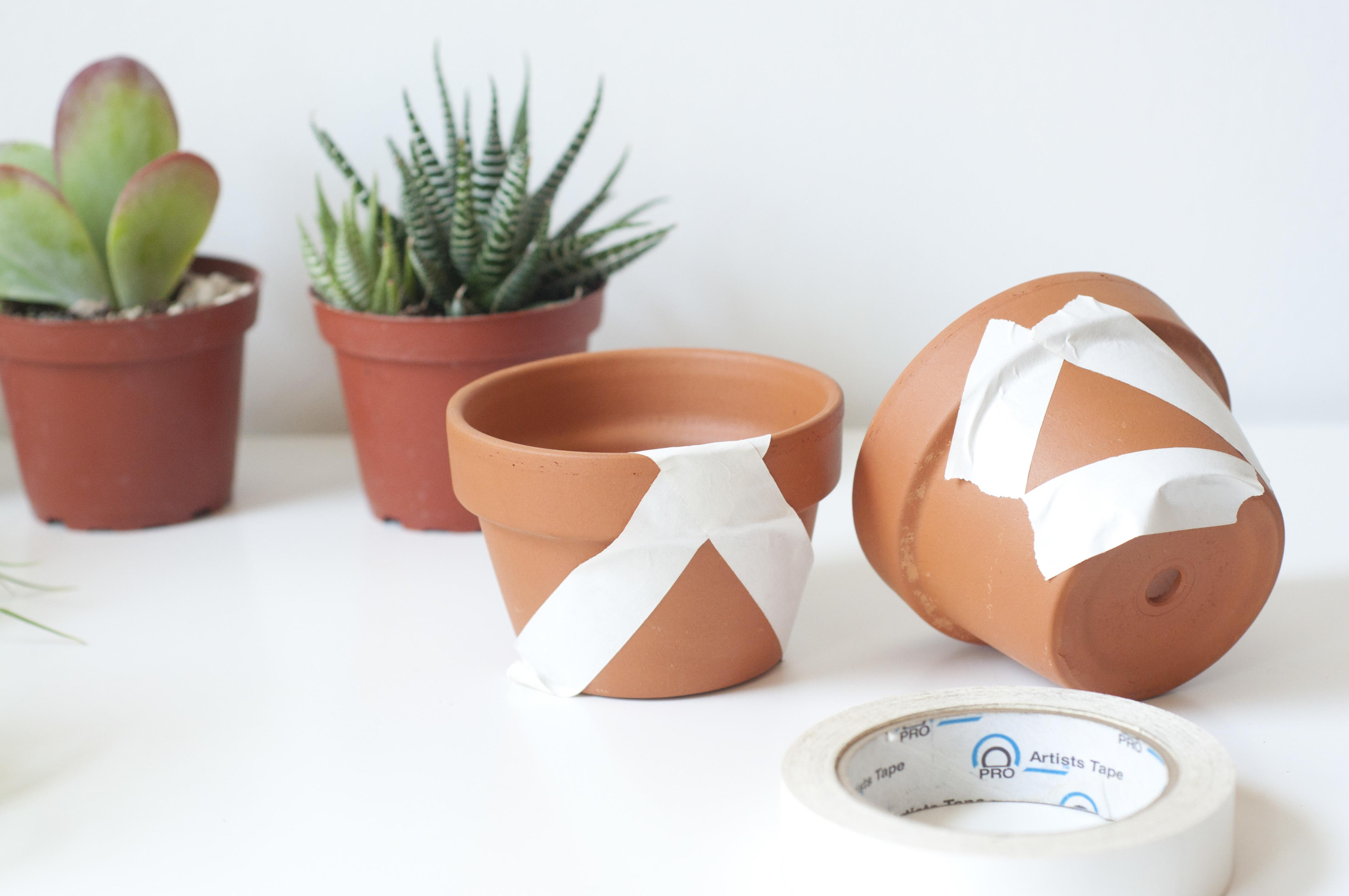 Diy Painted Pots Everything After Coffee