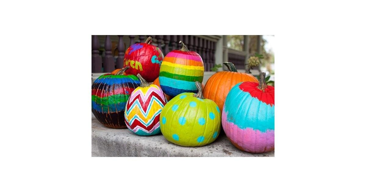 Diy Painted Pumpkins Carve Pumpkin Ideas Kids