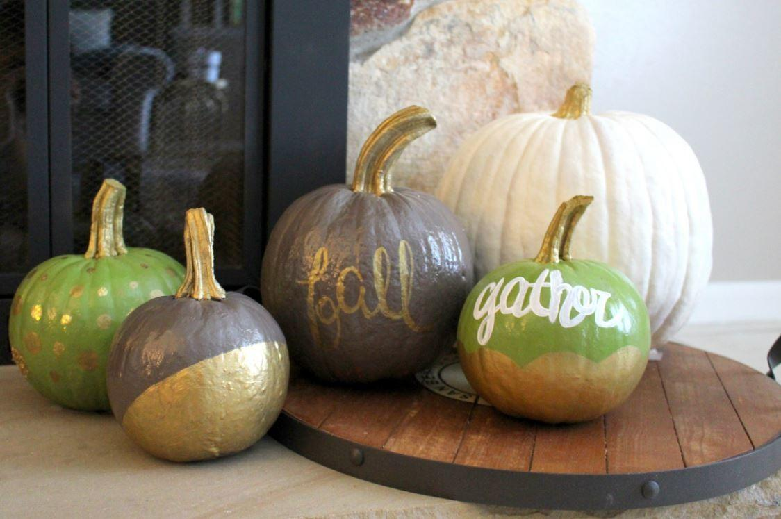 Diy Painted Pumpkins Fall Within Grove