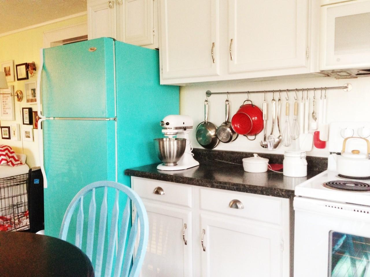 Diy Painted Refrigerator Cozy Crooked Cottage