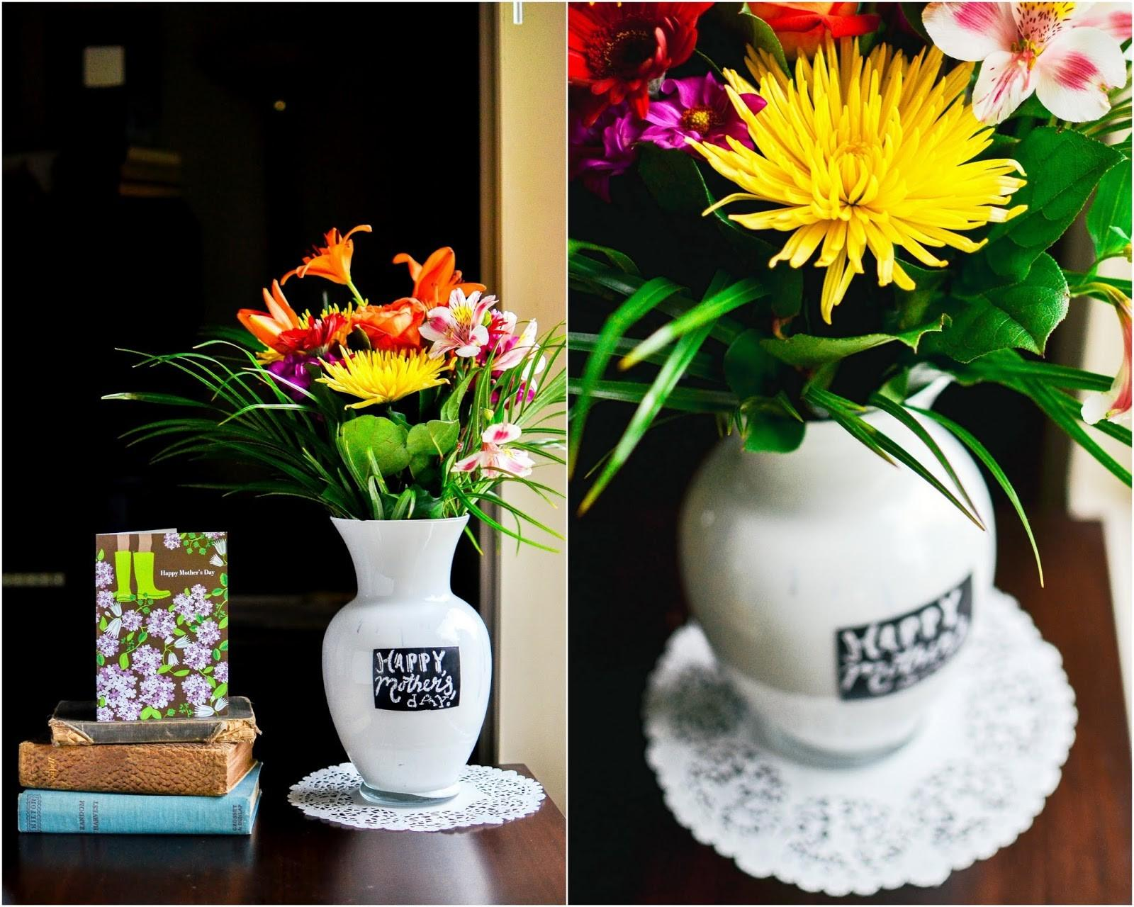 Diy Painted Vase Chalkboard Label Mother