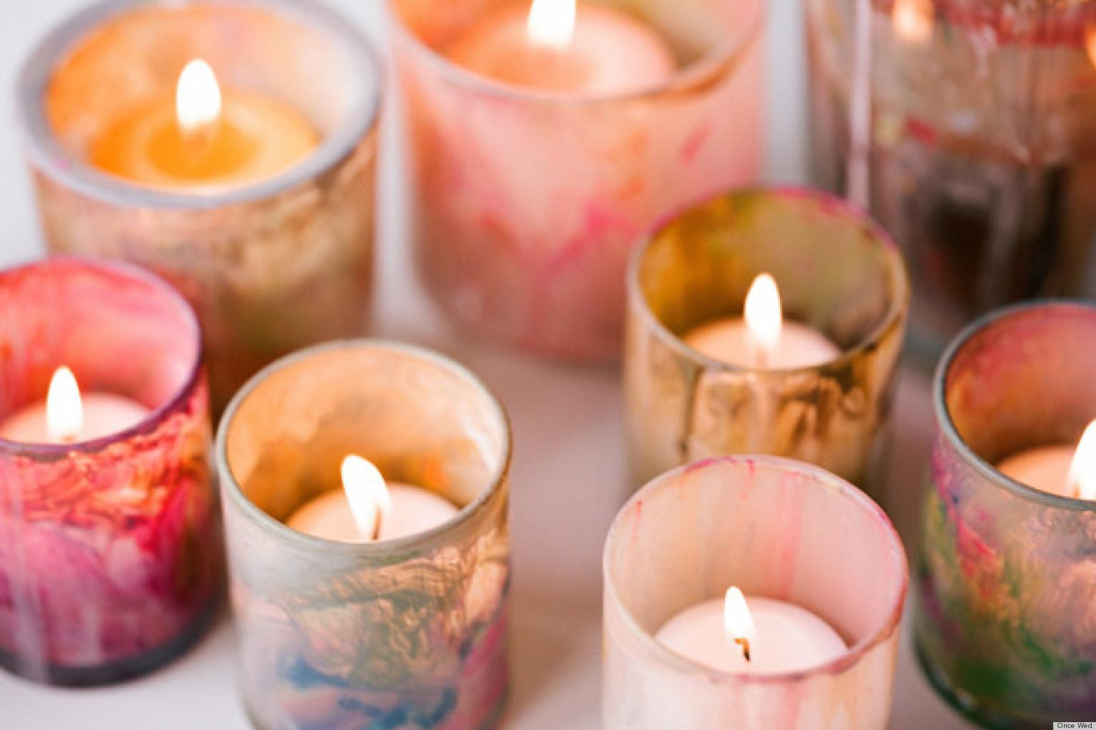 Diy Painted Votive Candle Holders Add Unique