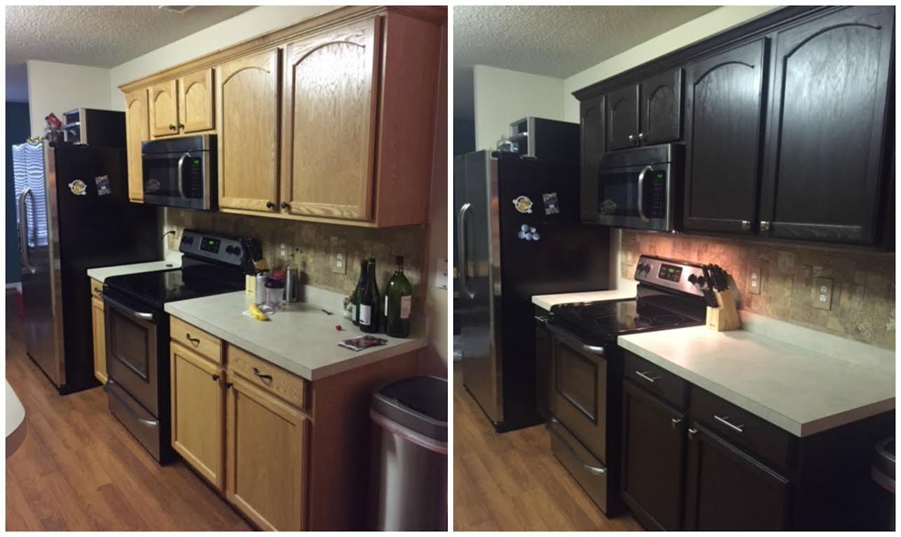 Diy Painting Kitchen Cabinets Before After Pics