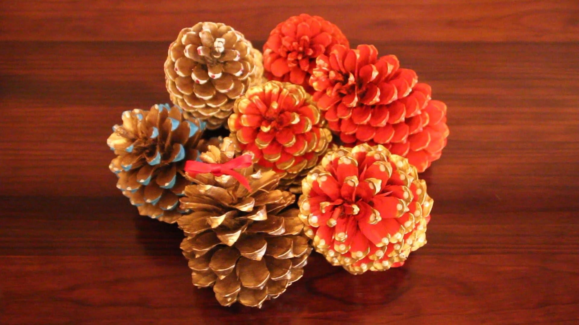Diy Painting Pinecones Christmas Navide