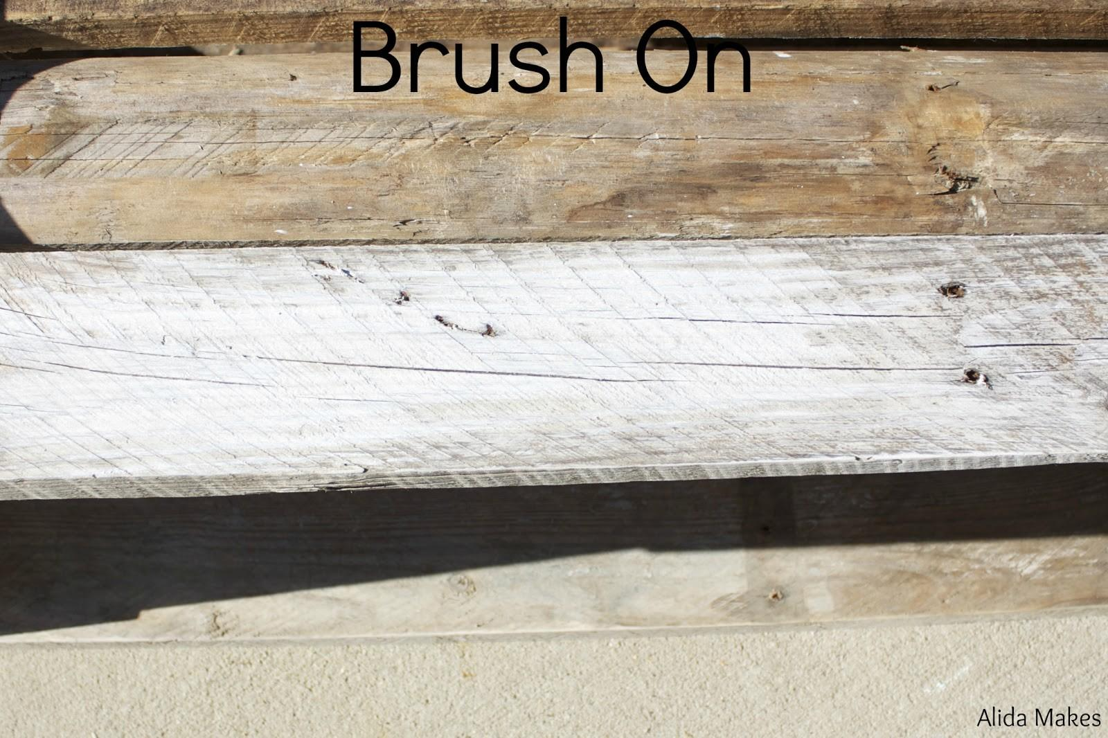 Diy Pallet Coffe Table White Wash Paint Instructions