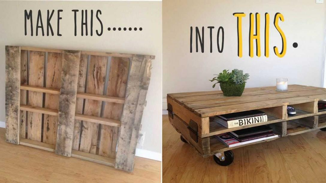 Diy Pallet Coffee Table Wheel