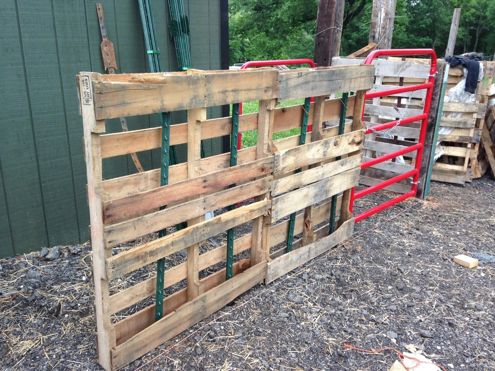 Diy Pallet Fence Such
