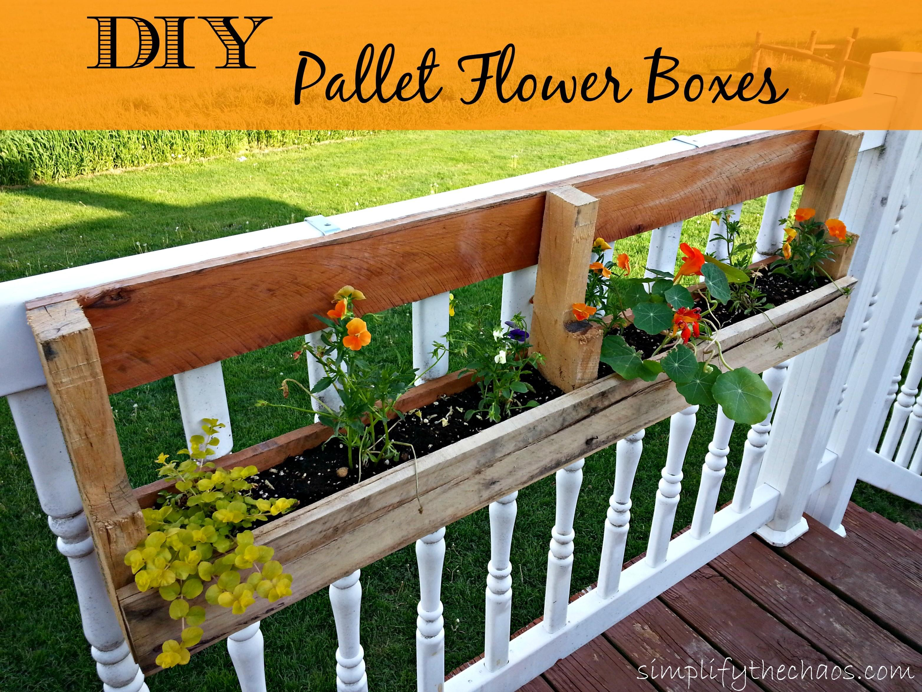 Diy Pallet Flower Boxes Simplify Chaos