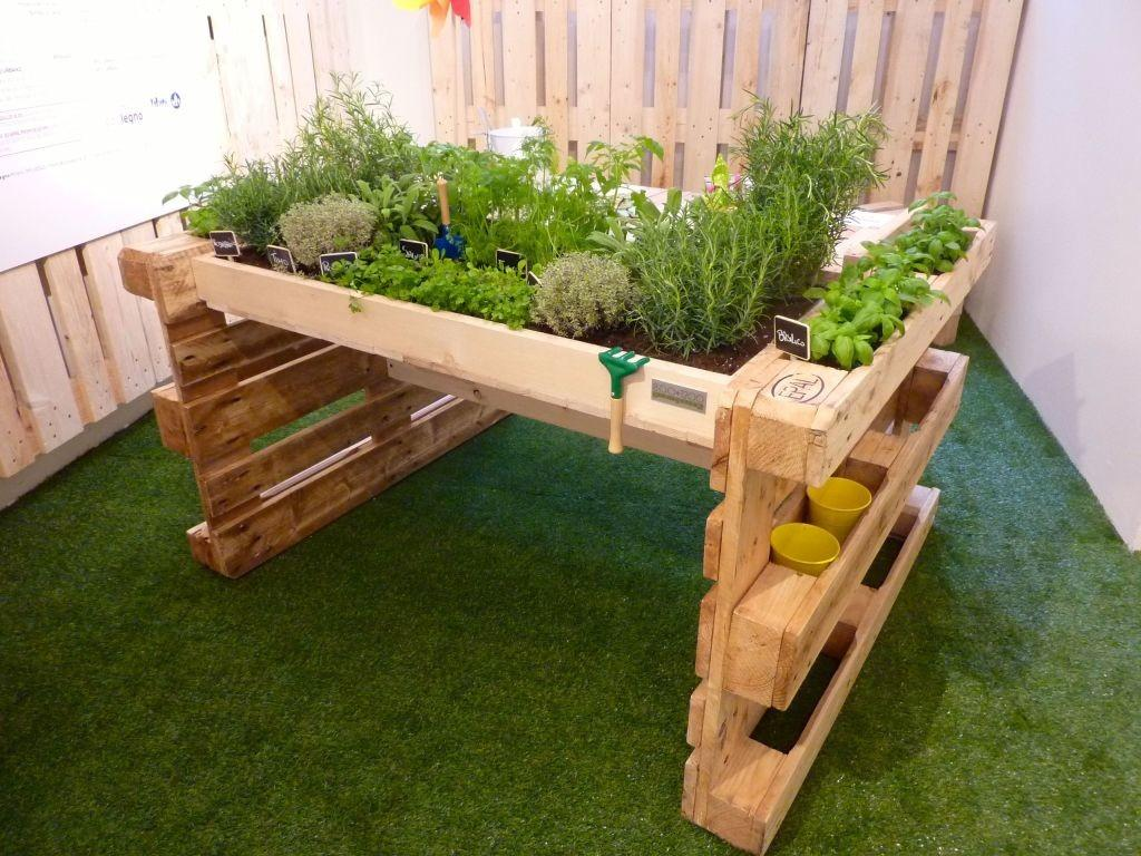 Diy Pallet Kitchen Garden