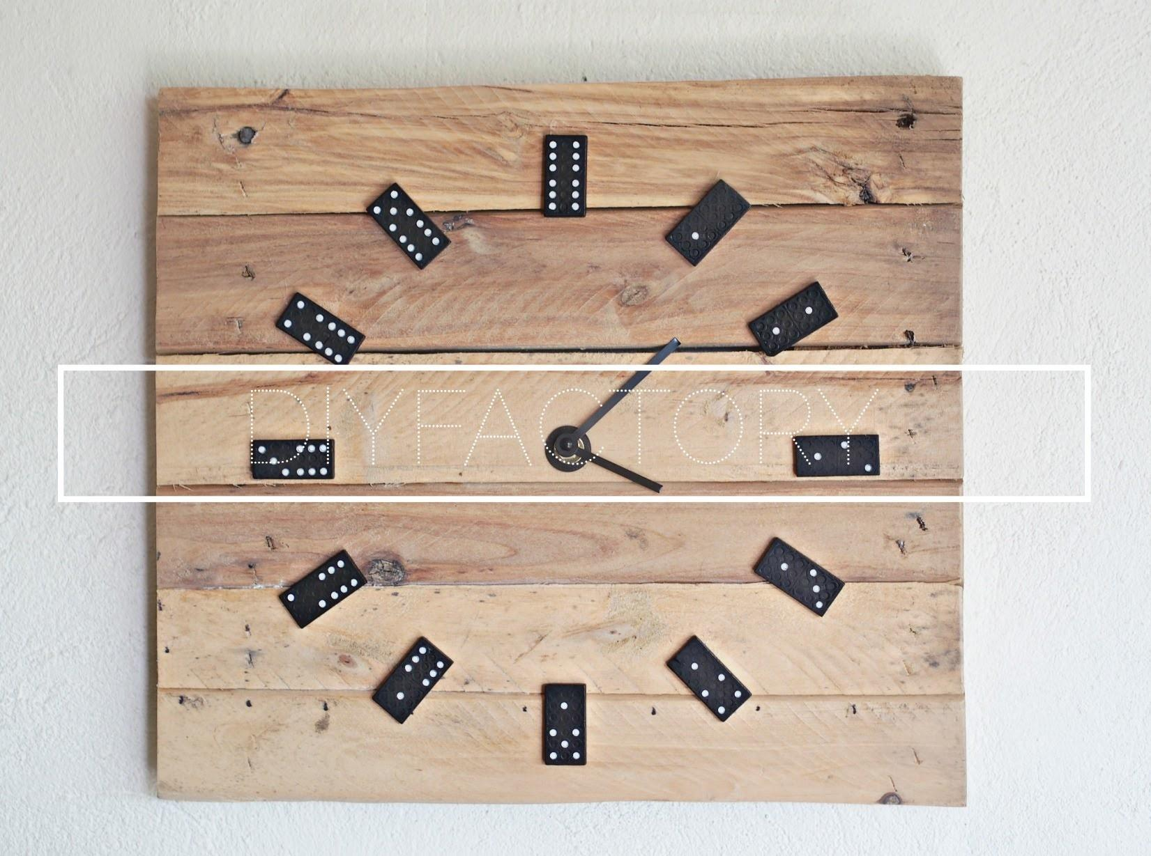 Diy Pallet Wall Clock Dominoes