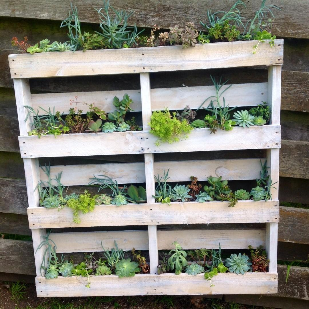Diy Pallet Wall Planter Vidabela