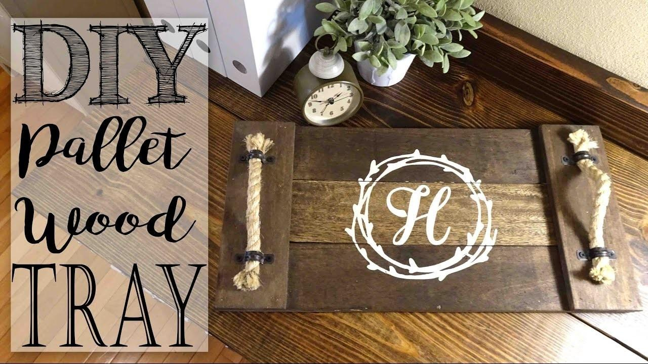 Diy Pallet Wood Monogram Tray Crafts Projects