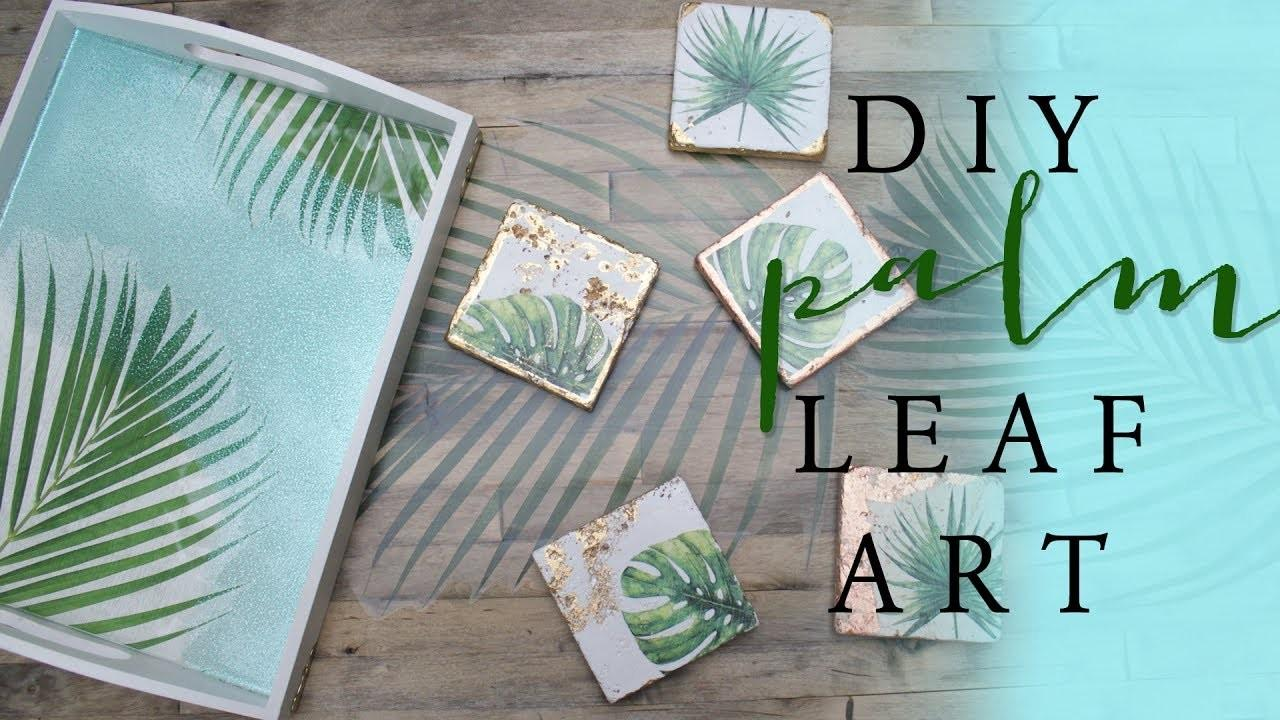 Diy Palm Leaf Art Room Decor