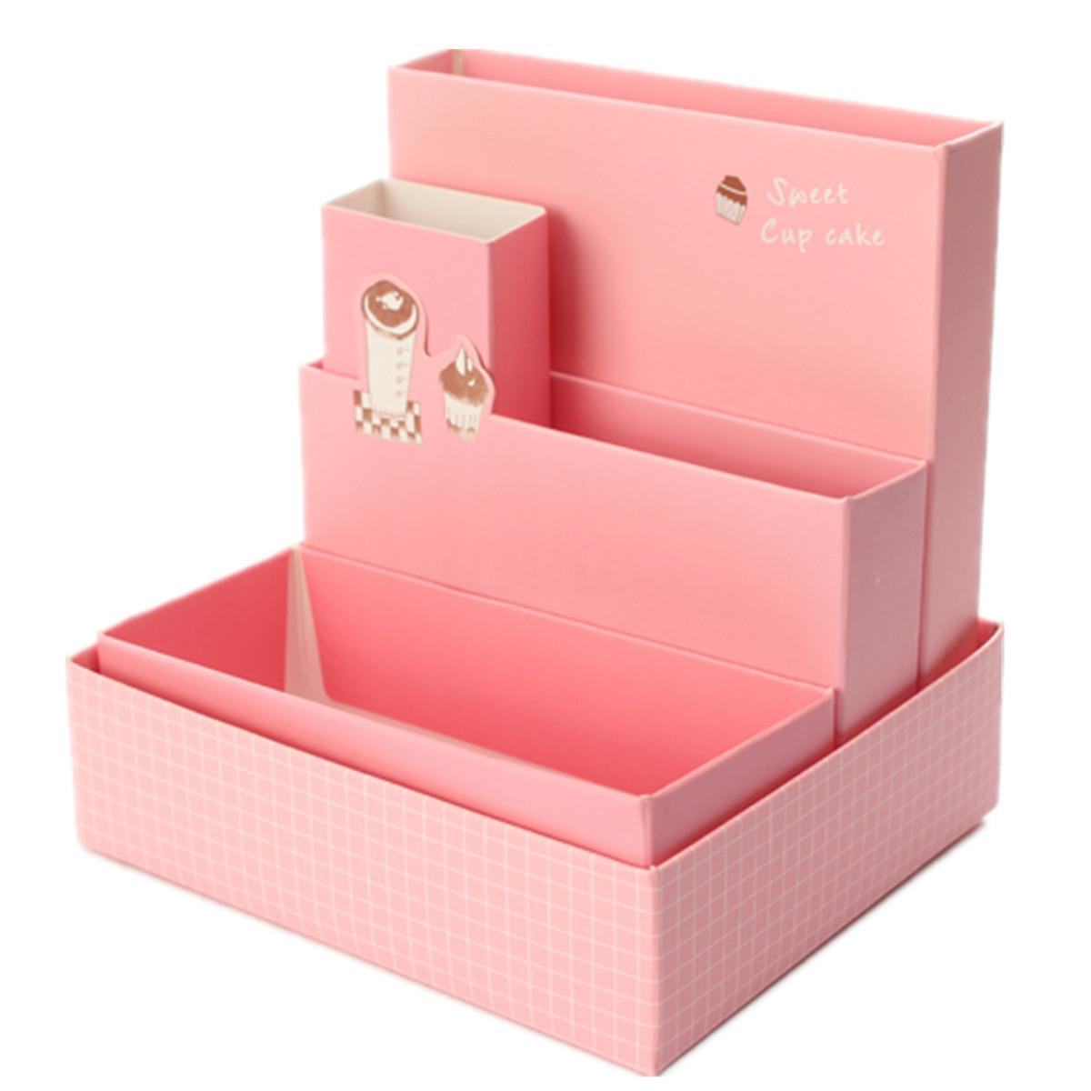 Diy Paper Board Storage Box Stationery Makeup Cosmetic