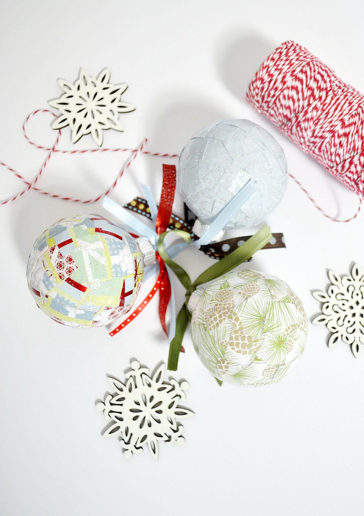 Diy Paper Christmas Ornaments Create Kids