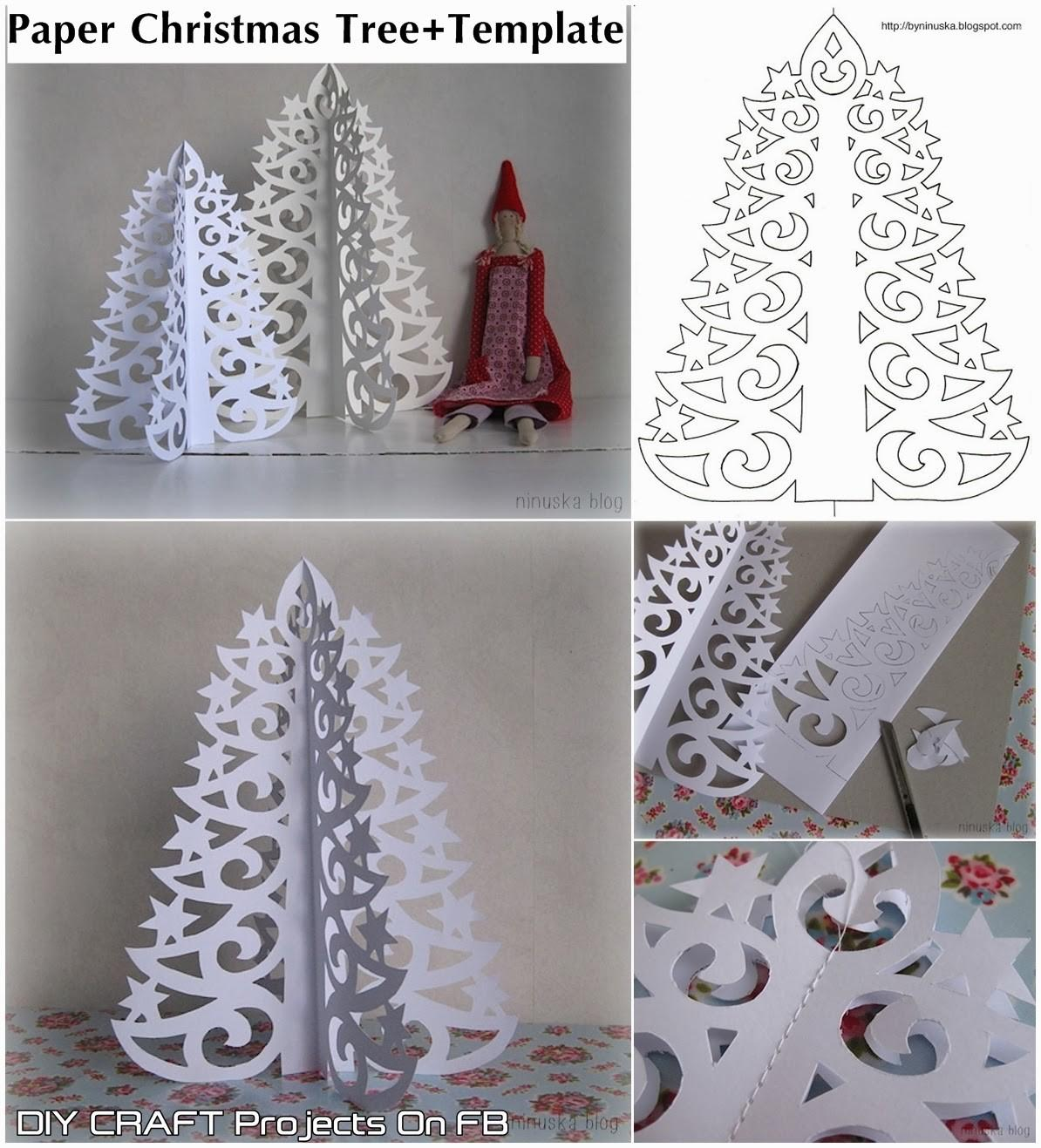 Diy Paper Christmas Tree Printable Template