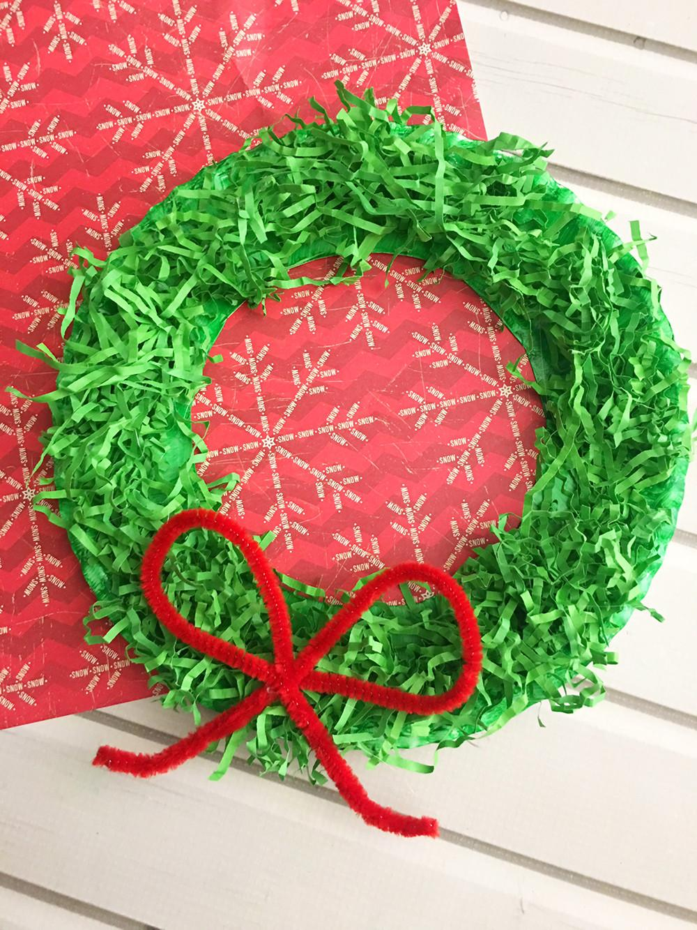 Diy Paper Christmas Wreath Onion Rings Things