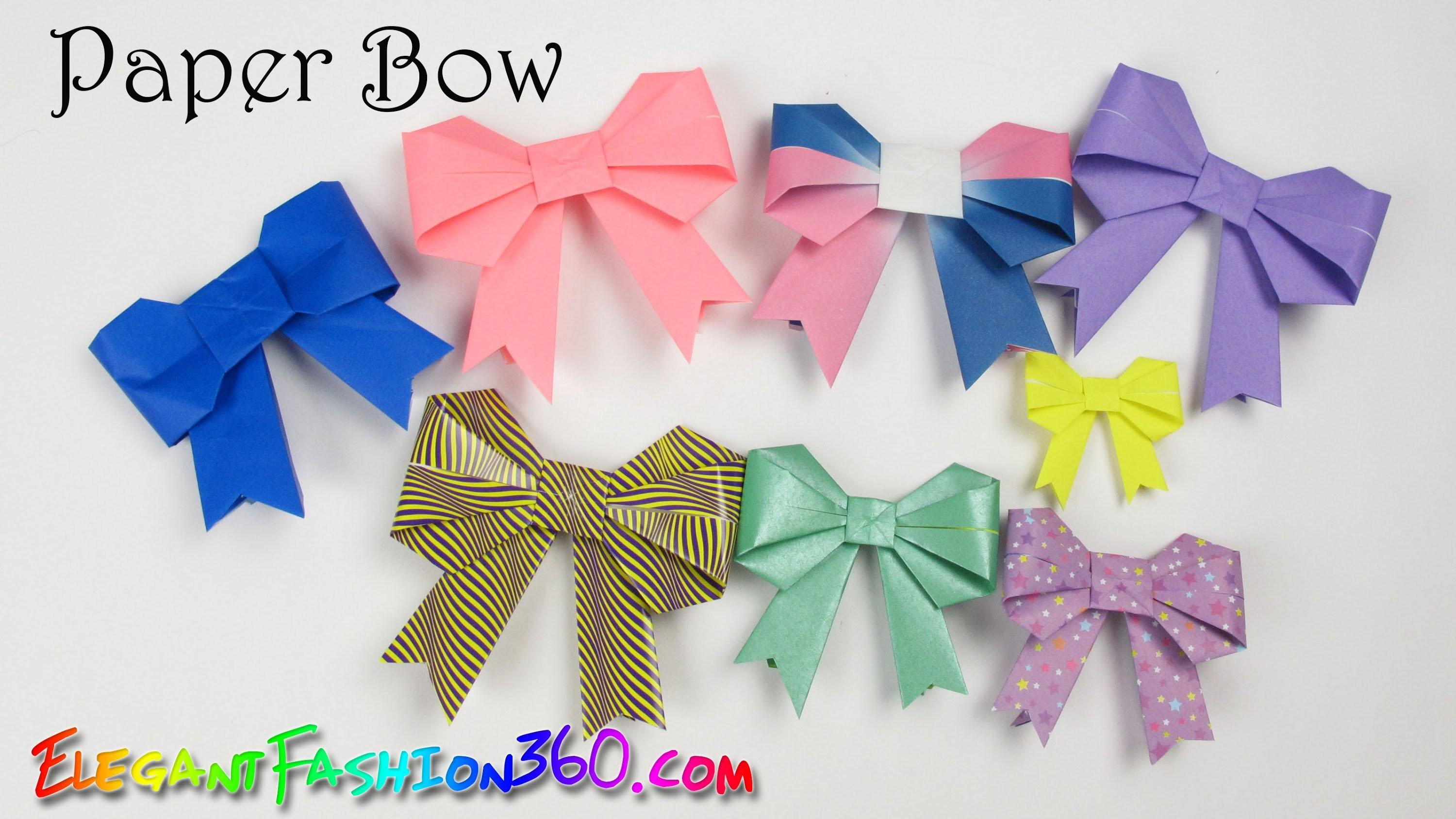 Diy Paper Crafts Bow Ribbon Cute Easy