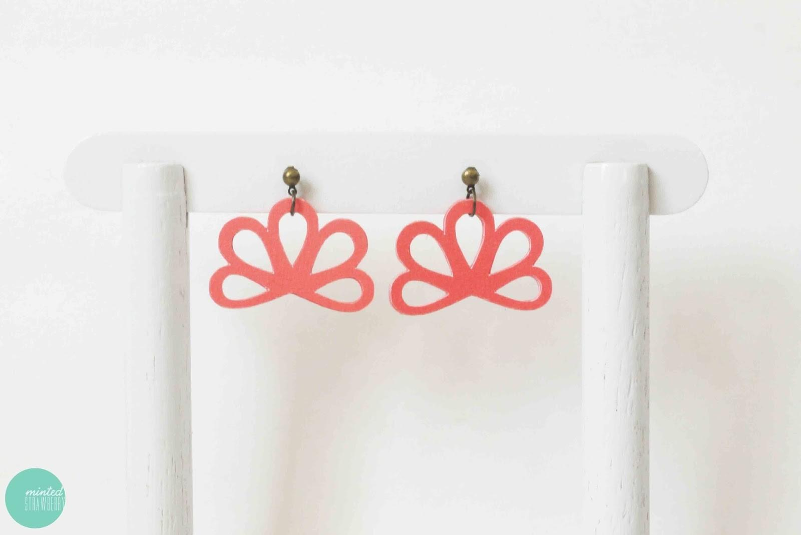 Diy Paper Earrings Hairpin Minted Strawberry