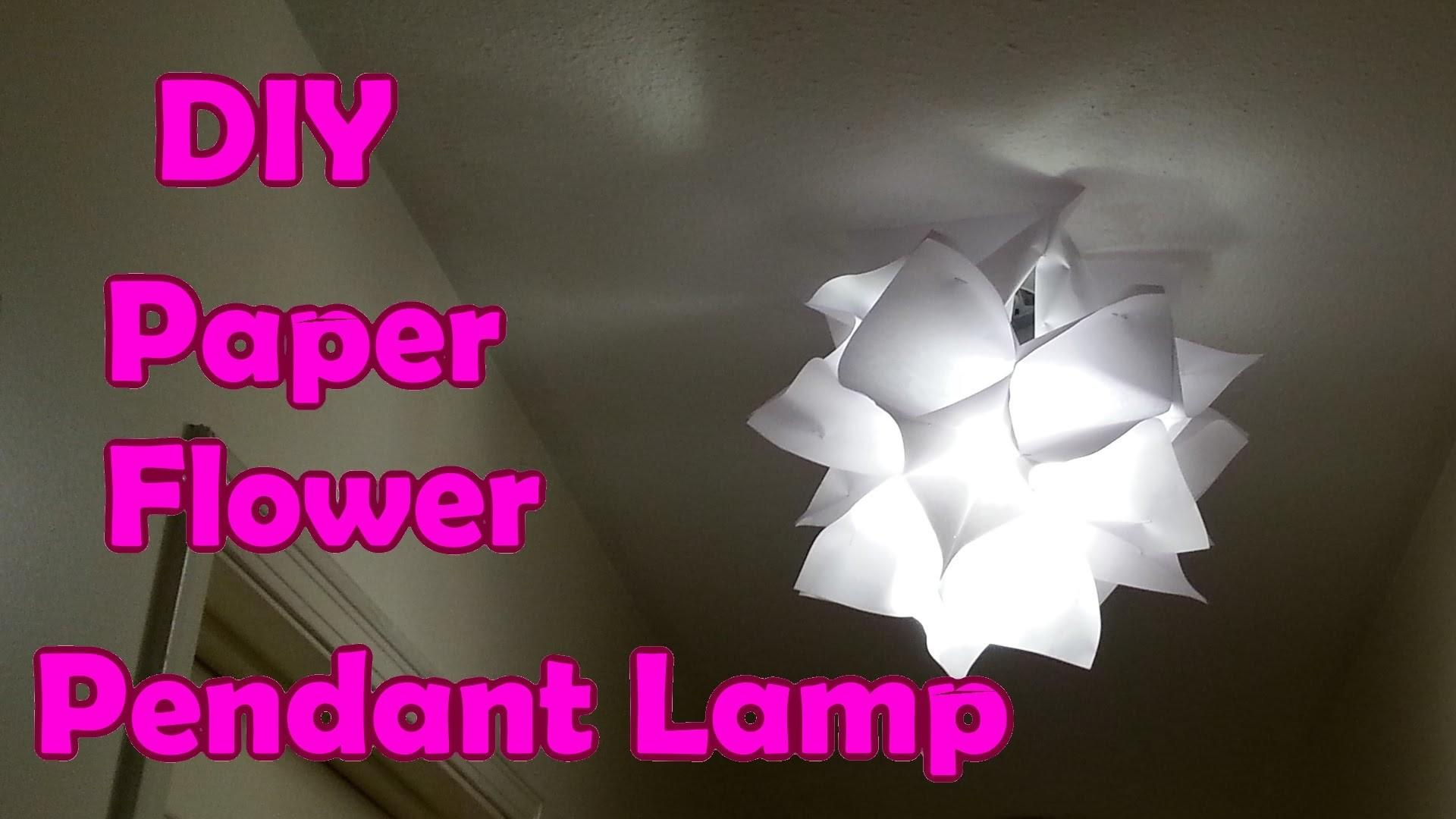Diy Paper Flower Pendant Lamp Shade