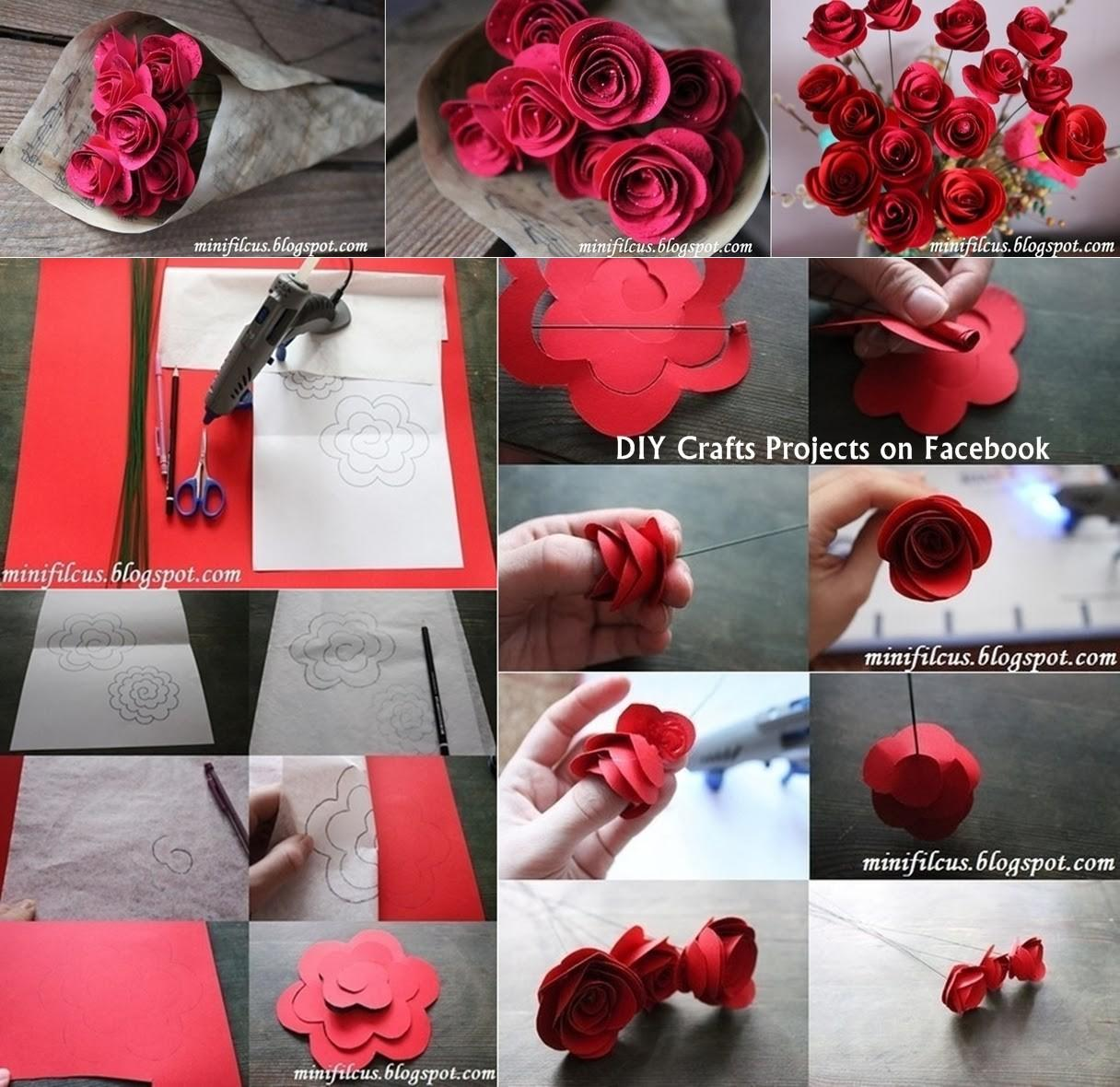 Diy Paper Fresh Flowers Craft Projects