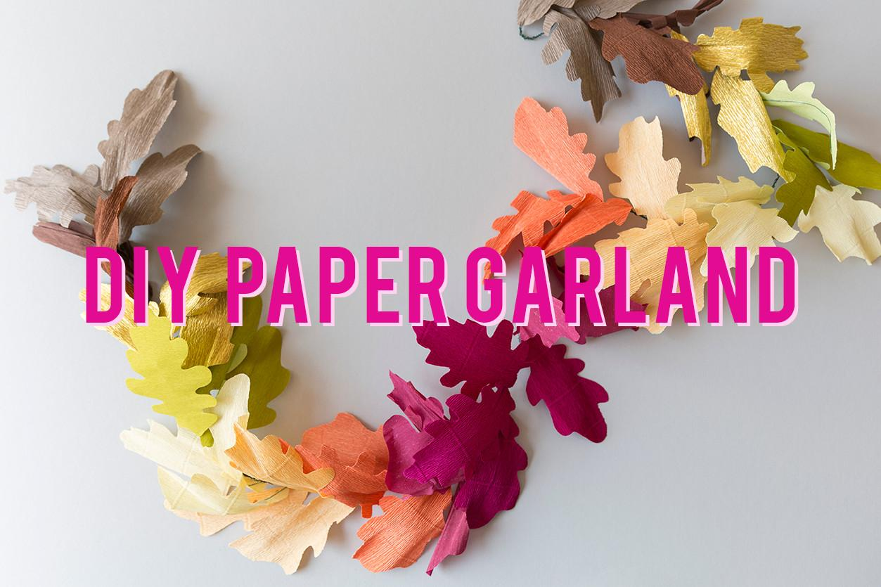 Diy Paper Leaf Fall Garland House Lars Built