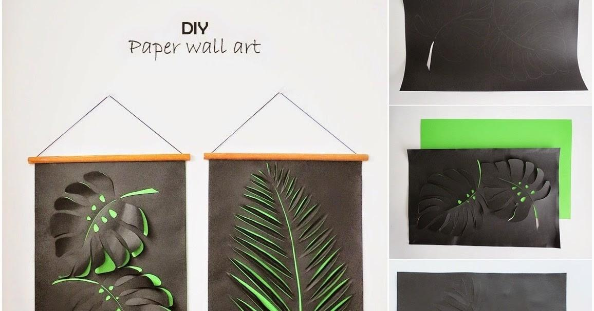 Diy Paper Leaf Wall Art Craft Projects