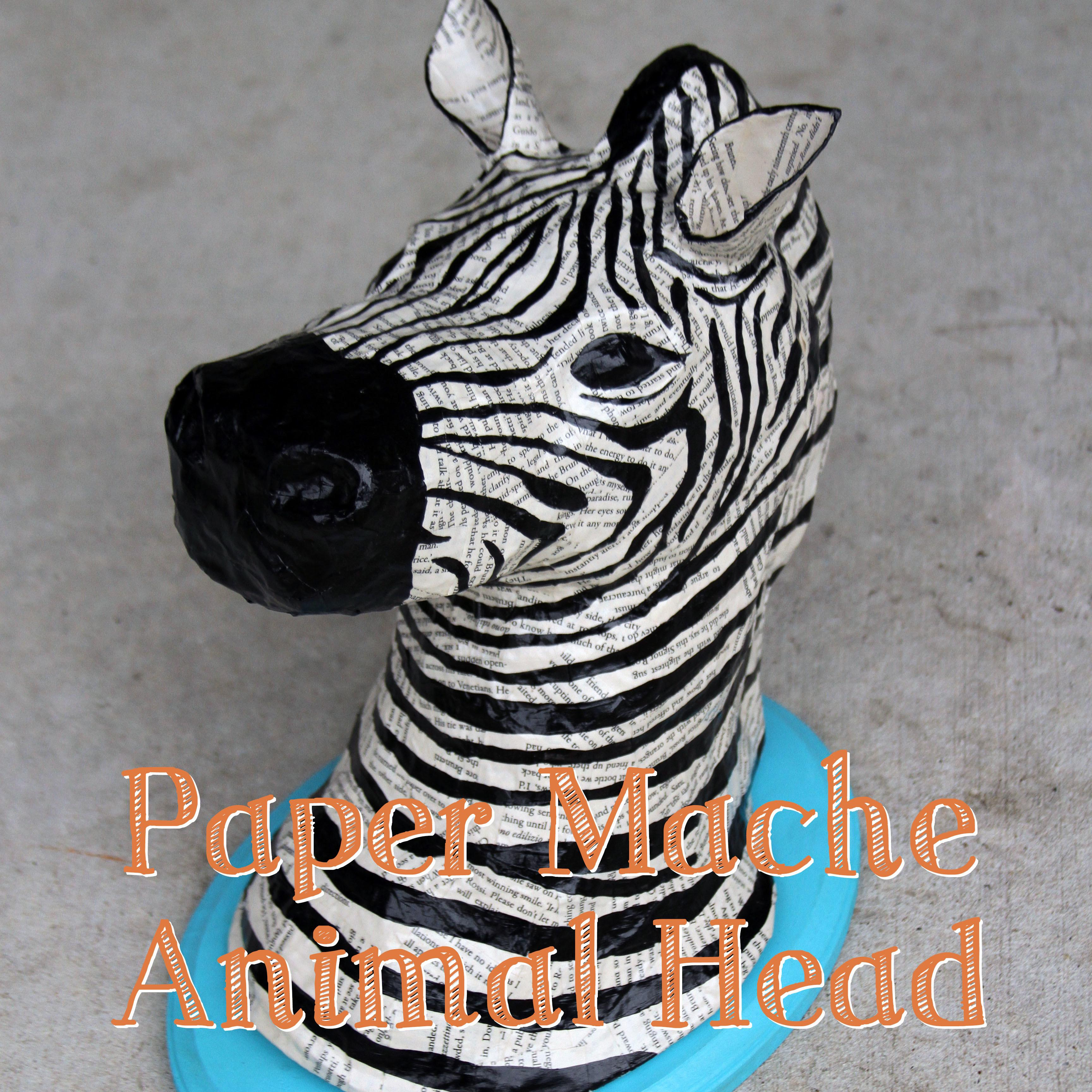 Diy Paper Mache Animal Head Fox Edition Sharper