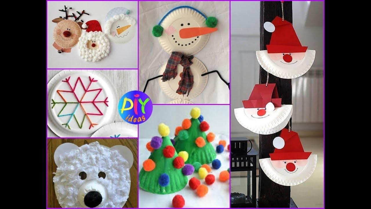 Diy Paper Plate Christmas Crafts Kids Easy Ideas