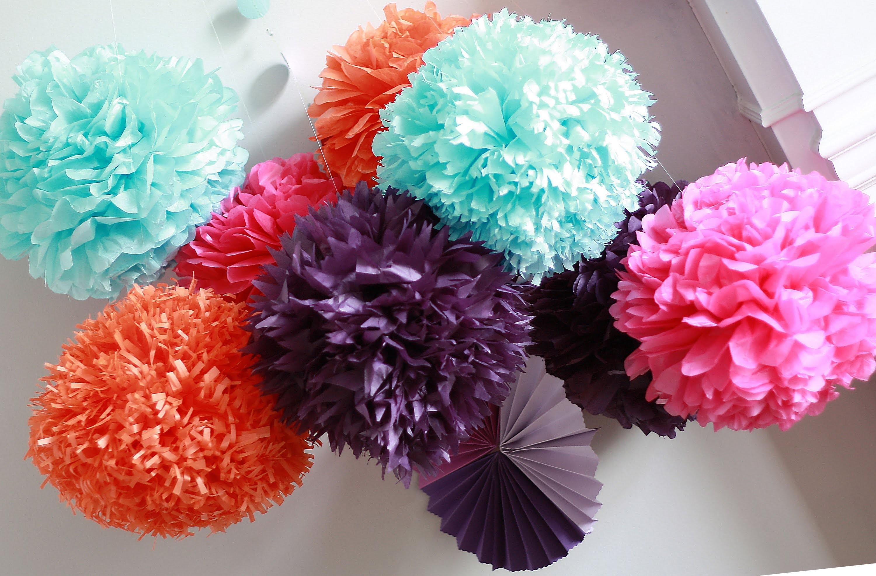 Diy Paper Pom Tutorial Decorations Impress