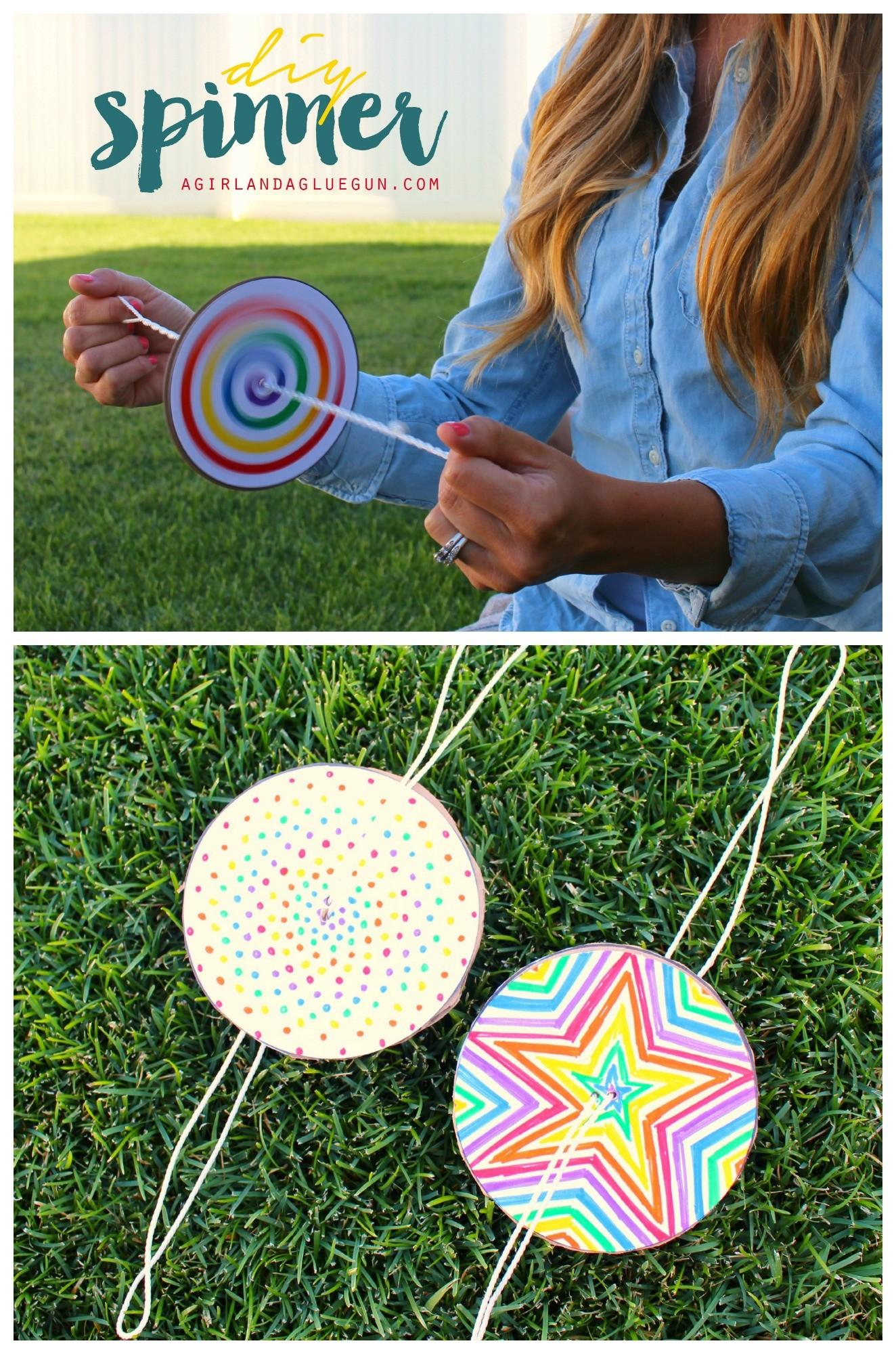 Diy Paper Spinner Endless Fun Make Takes
