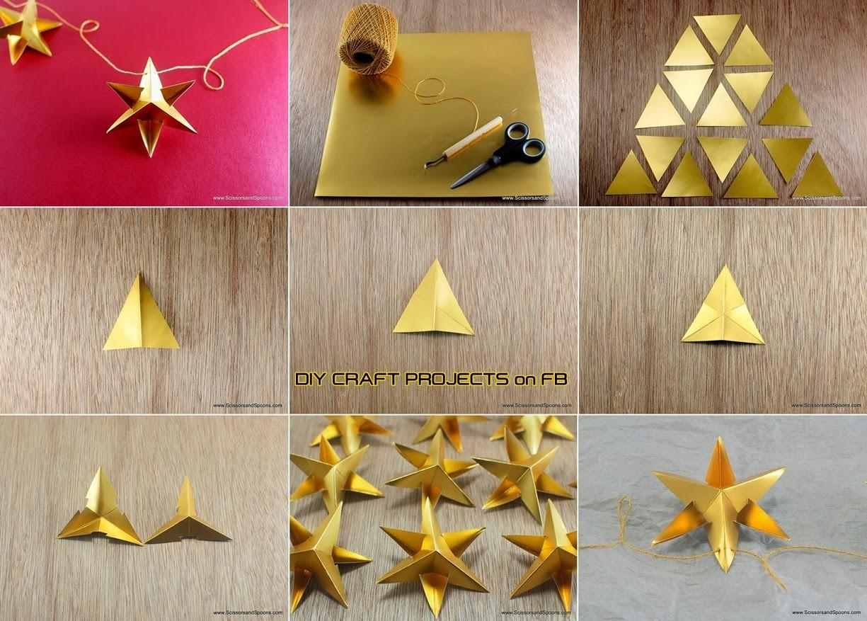 Diy Paper Star Christmas Ornament Craft Projects
