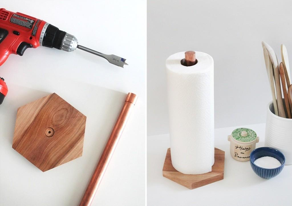 Diy Paper Towel Holder Home Decorating Trends Homedit
