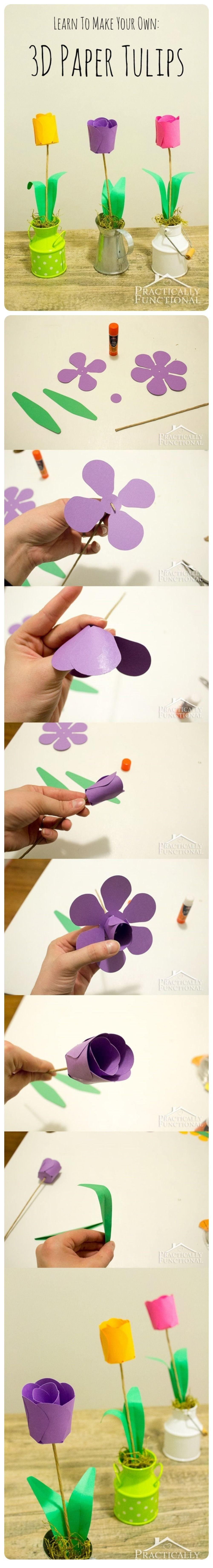 Diy Paper Tulips Photos