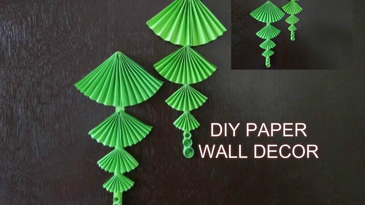 Diy Paper Wall Hanging Easy Crafts Projects