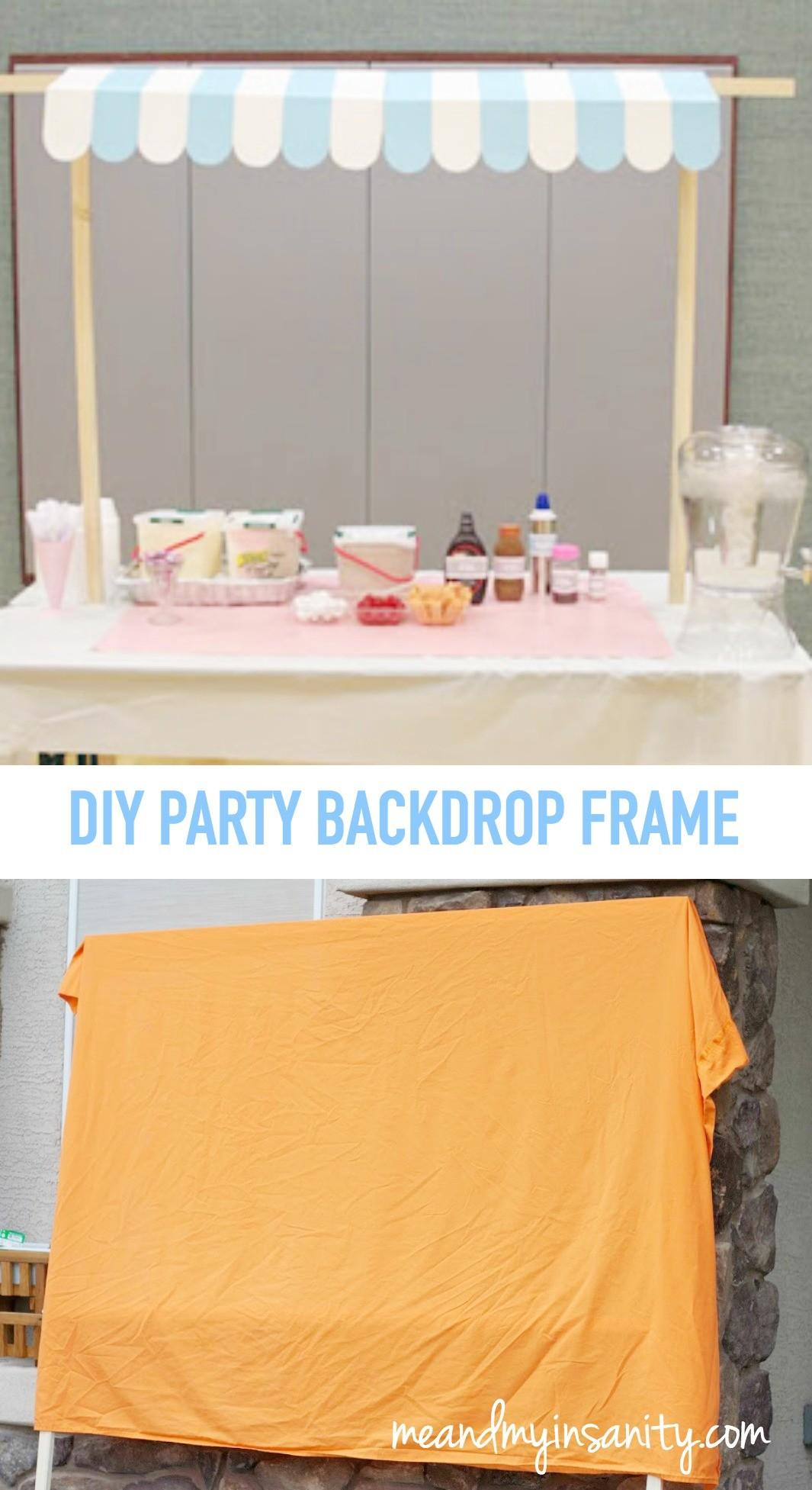 Diy Party Backdrop