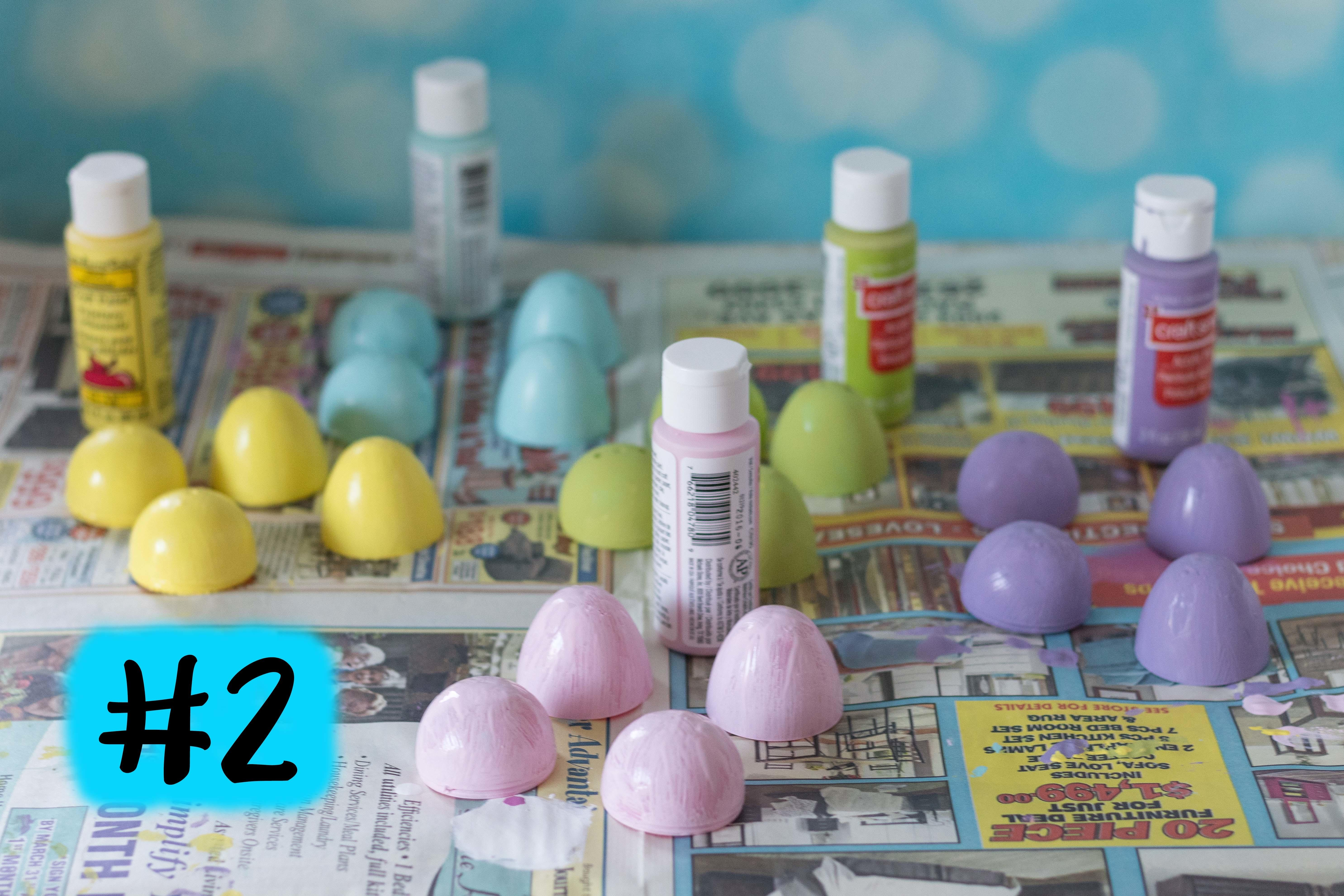 Diy Pastel Painted Speckled Plastic Easter Eggs Rose