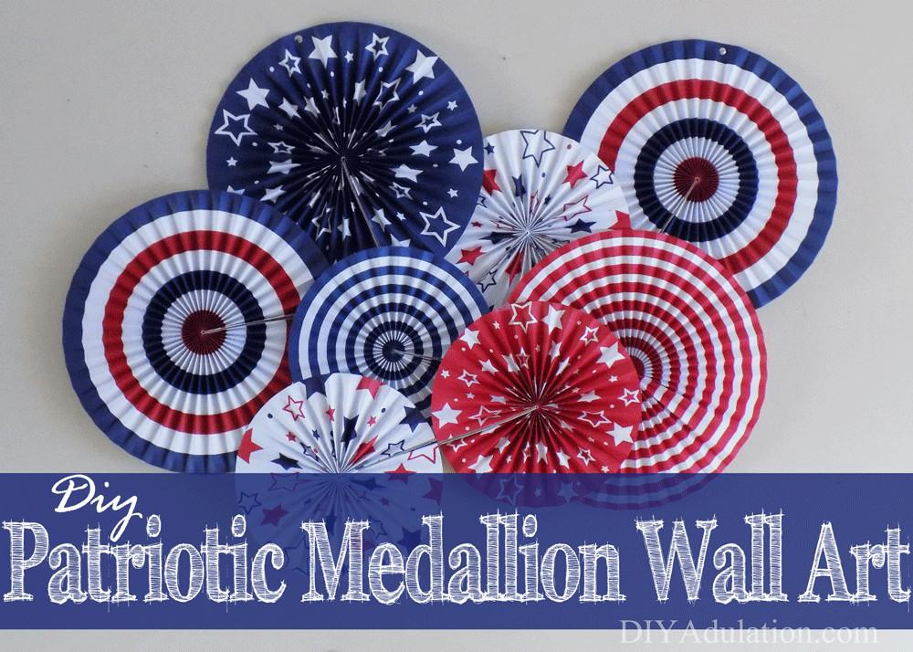 Diy Patriotic Medallion Wall Art Budget Friendly Solution