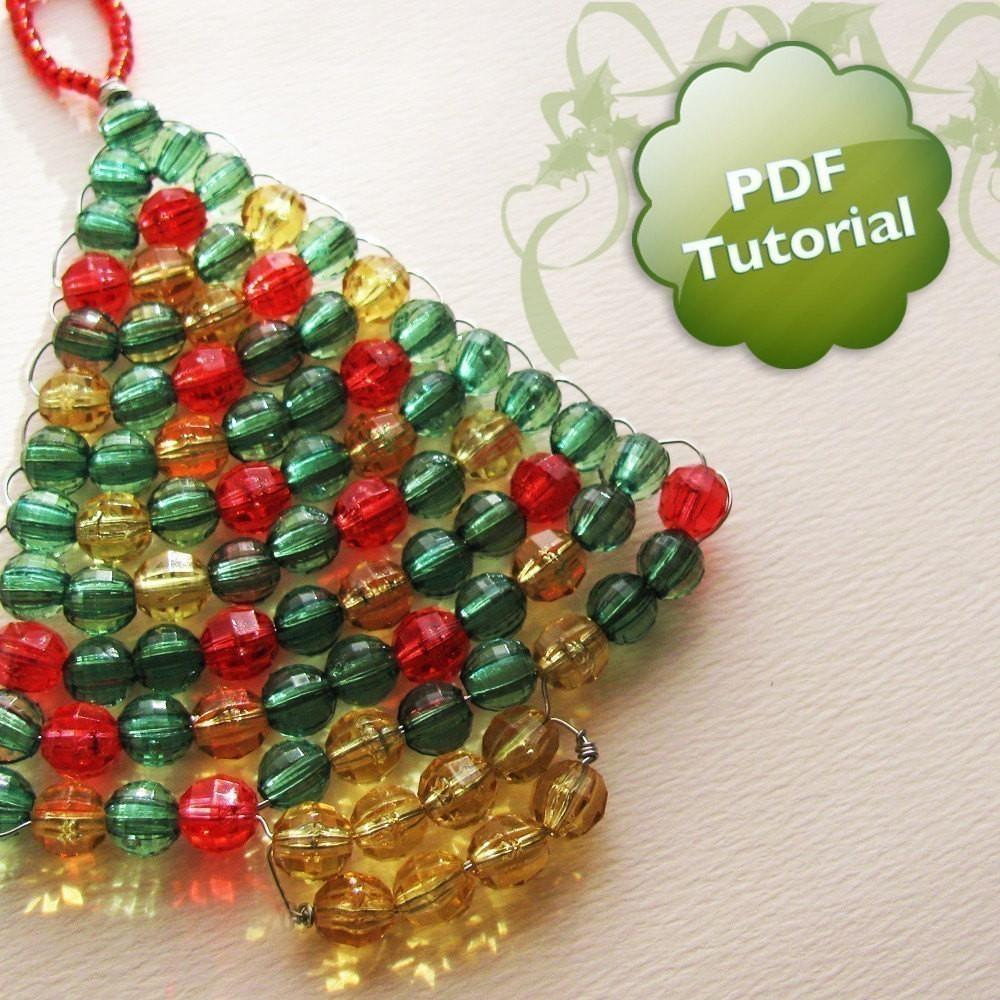 Diy Pdf Tutorial Xmas Tree Beaded Christmas Ornament