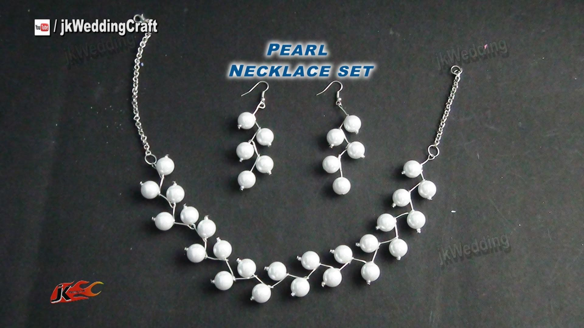 Diy Pearl Necklace Earring Set Gift Idea Easy