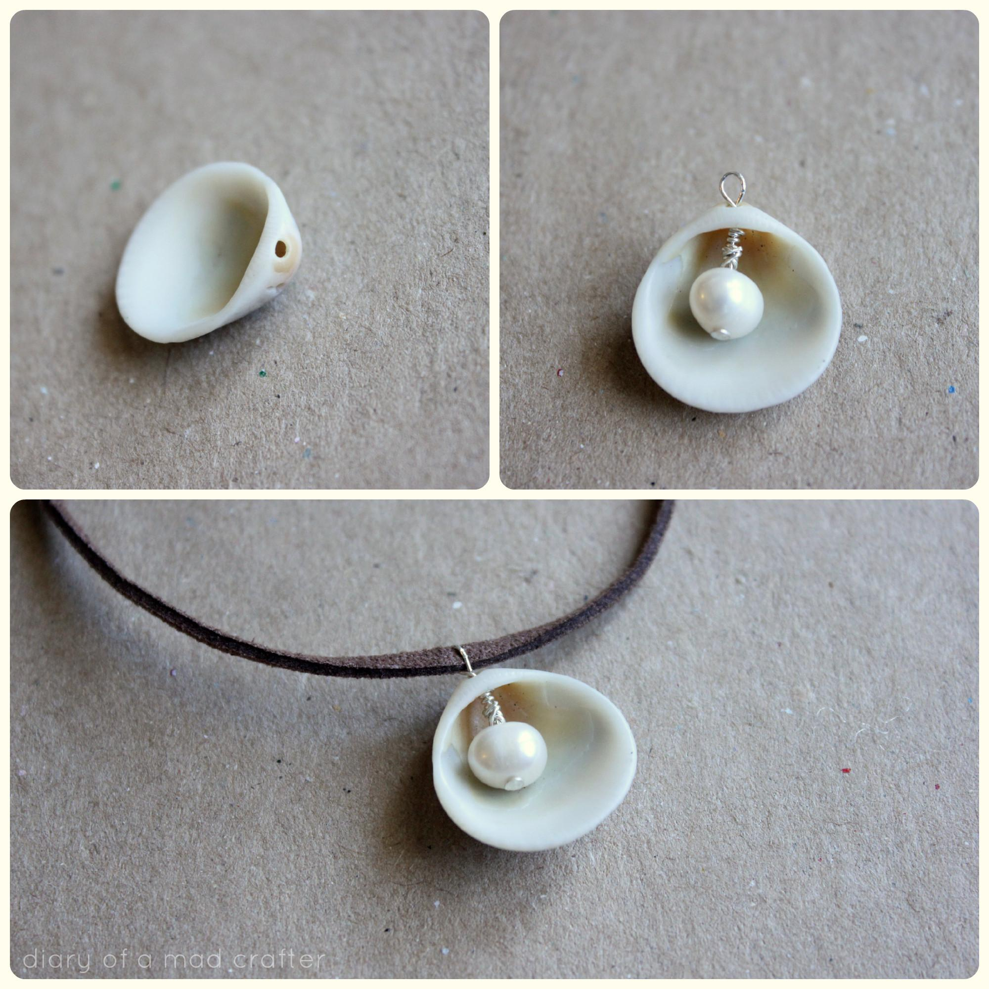 Diy Pearl Shell Necklace Diary Mad Crafter