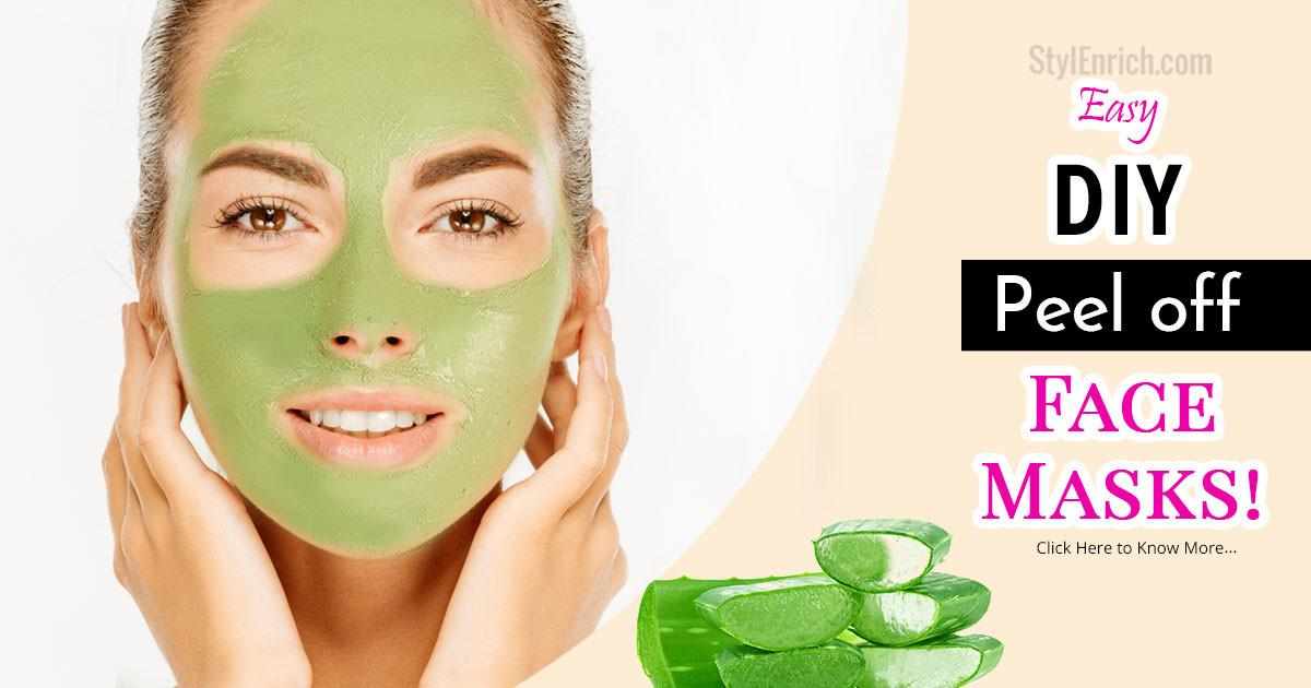 Diy Peel Face Mask Beautiful Glowing Skin