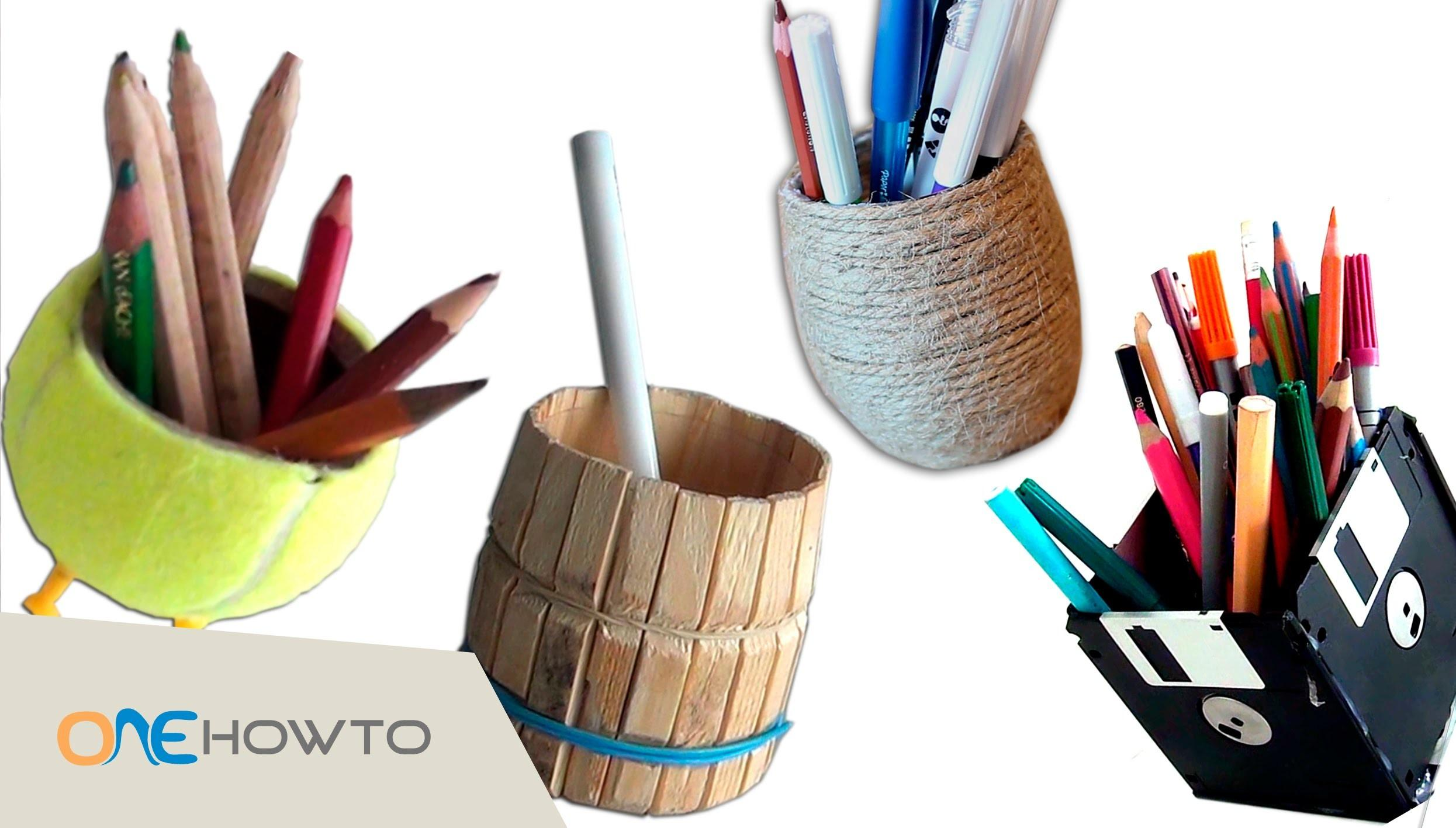 Diy Pencil Holders Crafts Waste Material