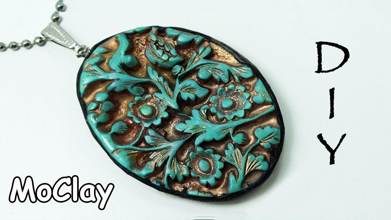 Diy Pendant Carved Designs Polymer Clay Jewelry